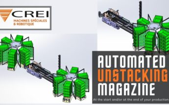 Automated stacking / unstacking magazine